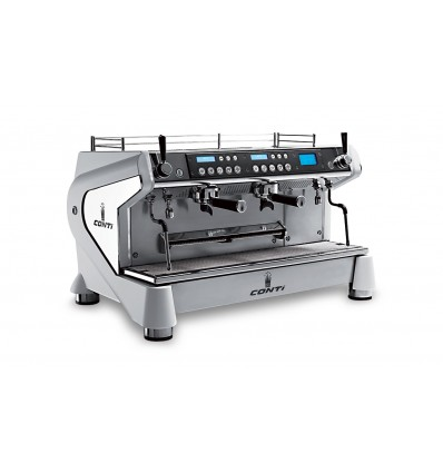 Machine à café CONTI Monte-Carlo 2 groupes blanche