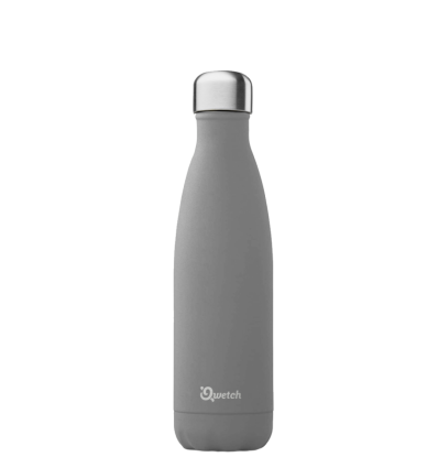 Qwetch bouteille isotherme 500ml granite gris