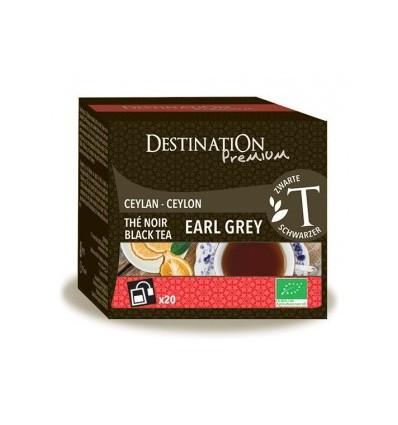 Thé noir earl grey 20x2gr - Destination Premium