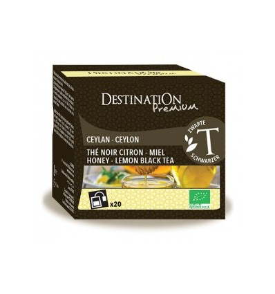 Thé noir citron miel 20x2gr - Destination Premium