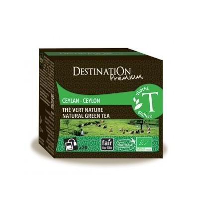 Thé vert nature - Ceylan - 20x2gr - Destination Premium