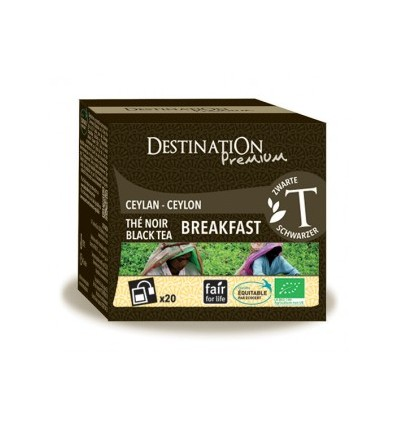 Thé noir english breakfast - Ceylan - 20x2gr - Destination Premium