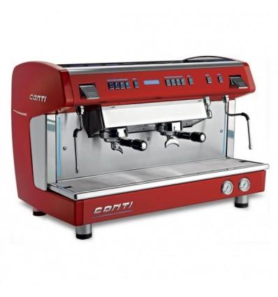 Machine à café x-one tci CONTI 2 groupes rouge