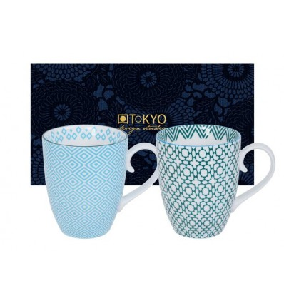 Geo eclectic set mug 2 pcs